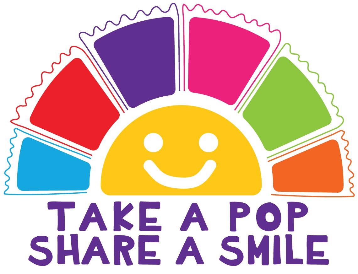 Take a Pop, Share a Smile Logo