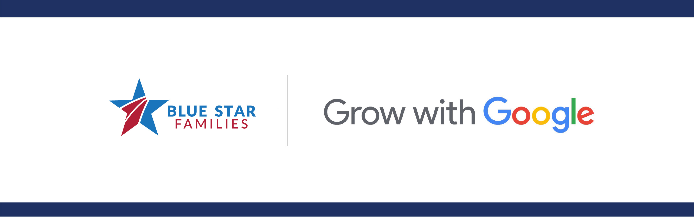 Grow with Google and Blue Star Families logo