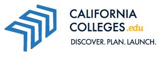 CaliforniaColleges.edu logo with tagline