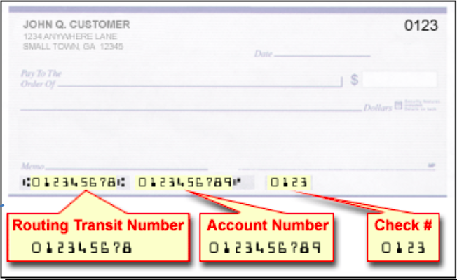 Routing and Account Description