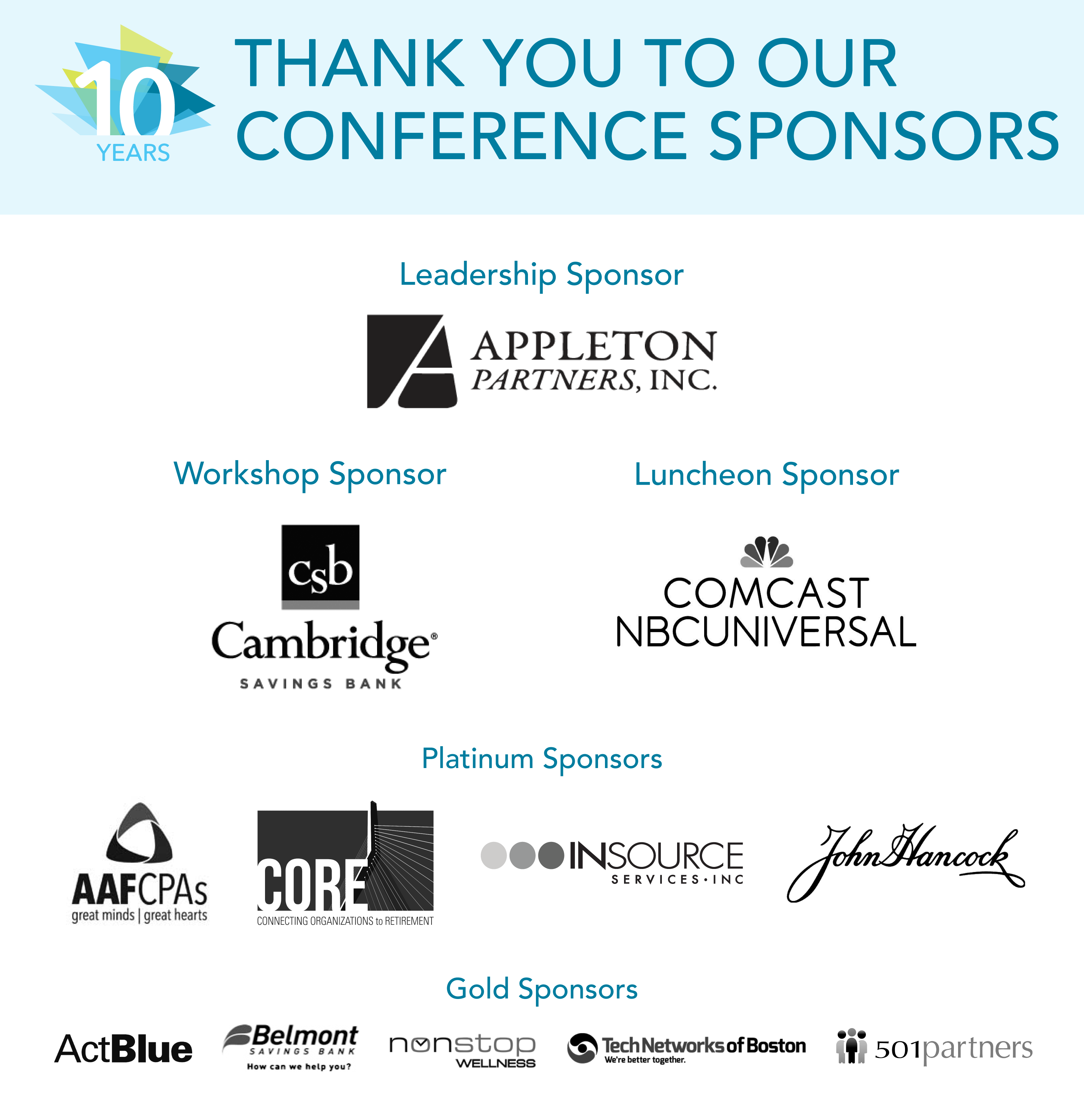 2017 MNN Conference Sponsors Thank You