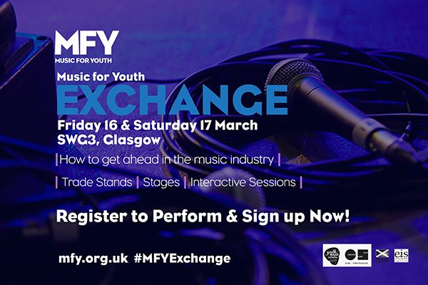 Music for Youth Exchange 2018 - 16th and 17th of March at SWG3 Glasgow - Apply to perform and register to attend using the form below
