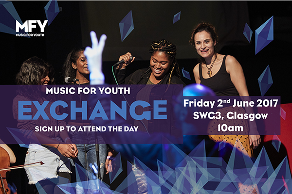 Music for Youth Exchange returns to Glasgow at SWG3 on Friday 2nd June. Apply using the form below