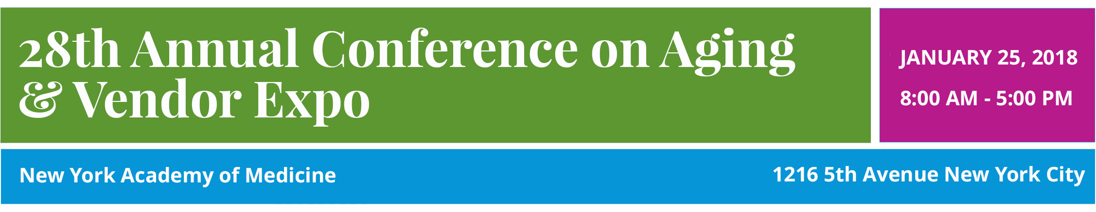 LiveOn NY's Annual Conference on Aging Registration Form