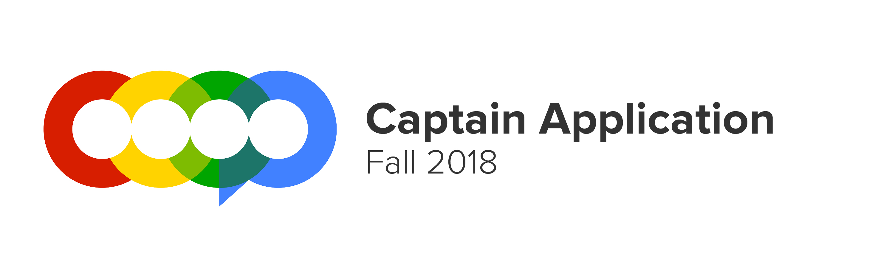 Fall 2018 captain application