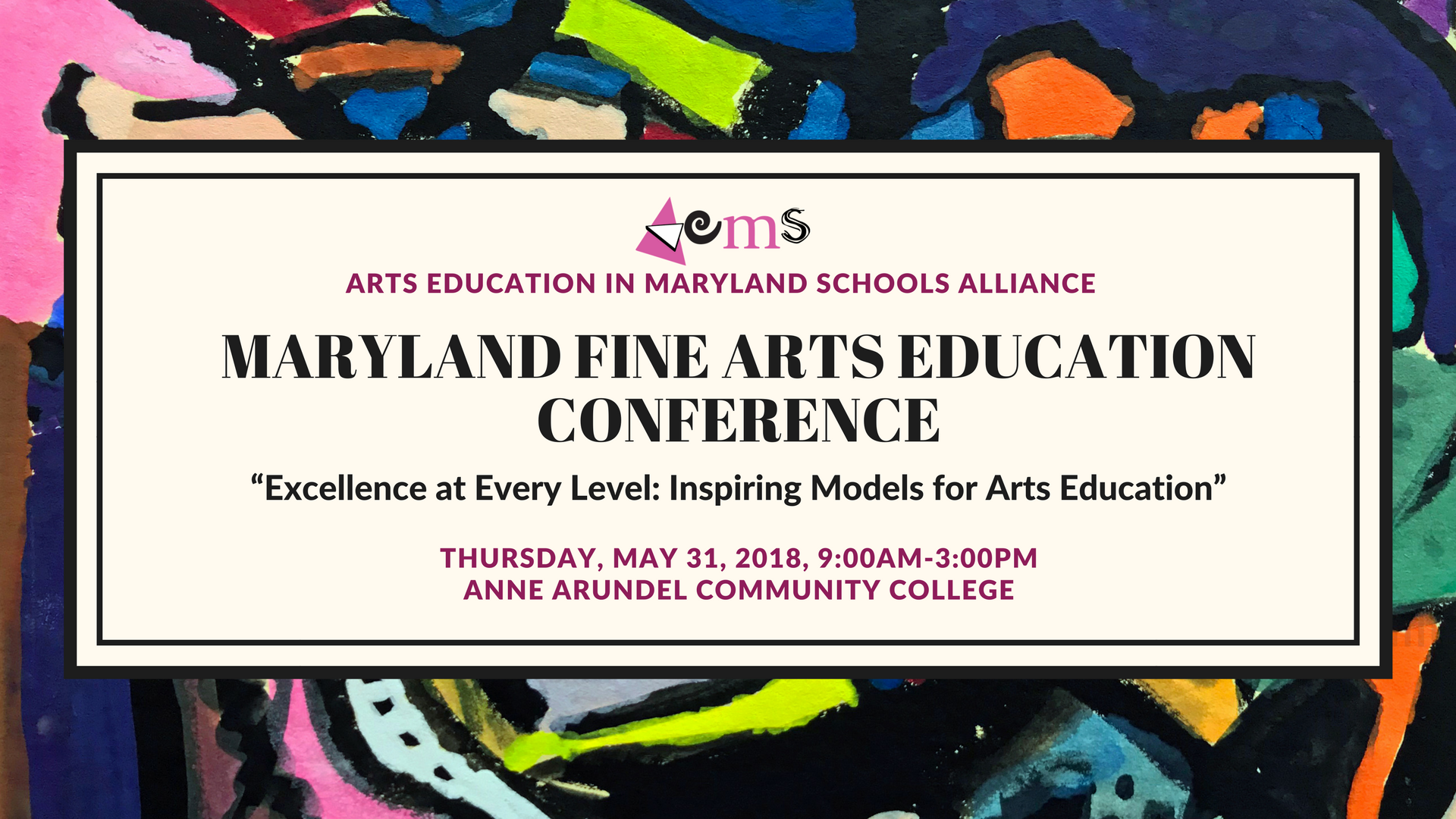 Maryland Arts Education Conference 2017