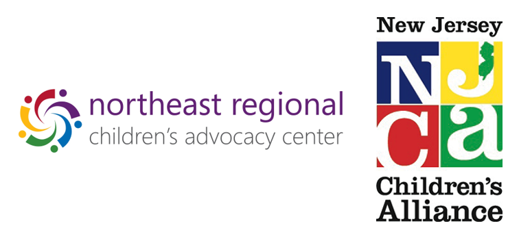 Northeast Regional Children's Advocacy Center logo on left, New Jersey Children's Alliance logo on right