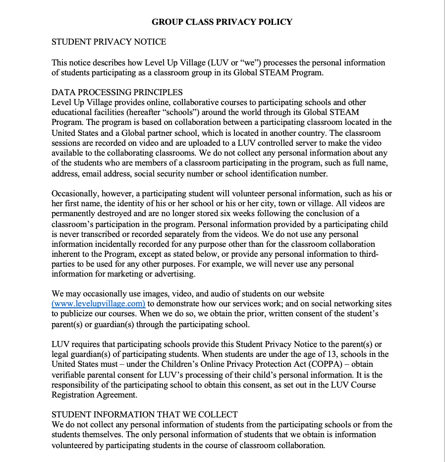 Primrose Privacy Policy - page 1 of 2