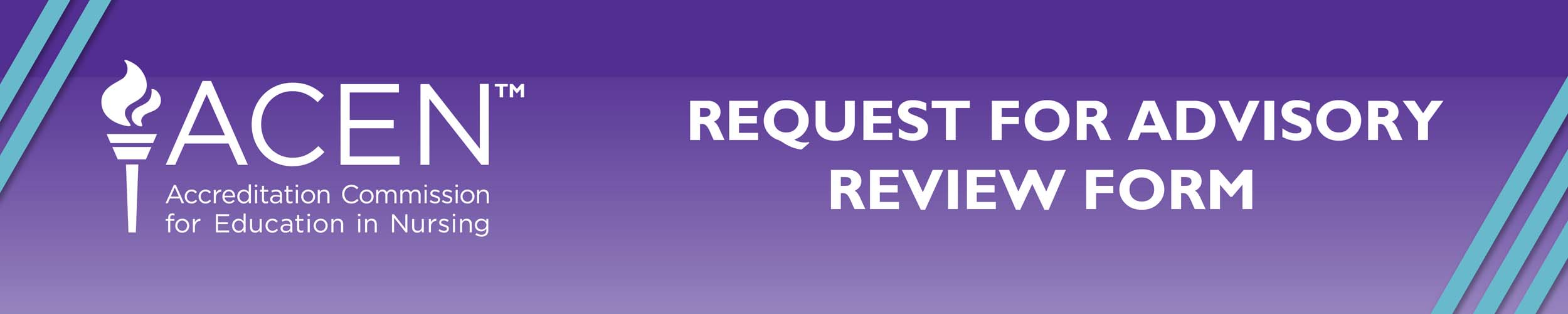 REQUEST FOR ADVISORY REVIEW FORM