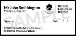 NER Sample Stamp