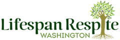 Lifespan Respite Washington logo featuring a tree with green leaves