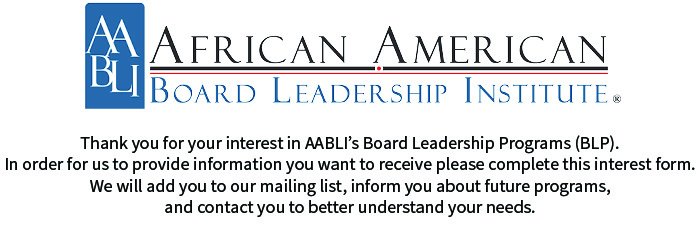 General Interest in AABLI Board Leadership Programs