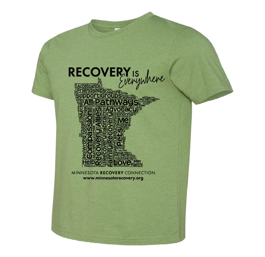 Walk for Recovery t-shirt