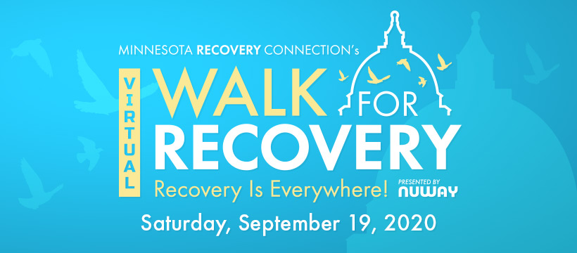Virtual Walk for Recovery Logo