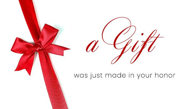A Gift In Your Honor Card