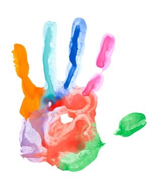 Painted hand print