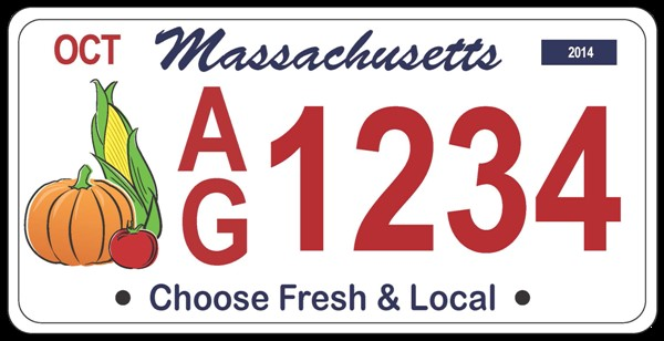 Choose Fresh and Local License plate