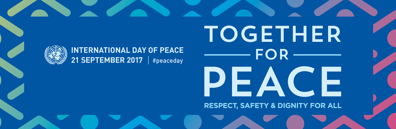 Image Banner for International Day of Peace 2107