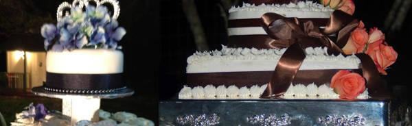Photos of small wedding cakes. Small wedding package and elopement cake.